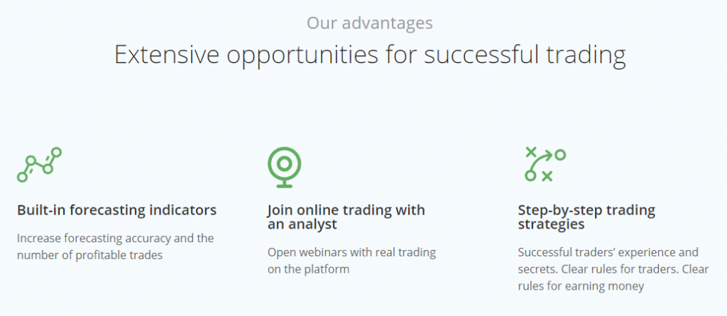 OlympTrade Advantages of the trading platform