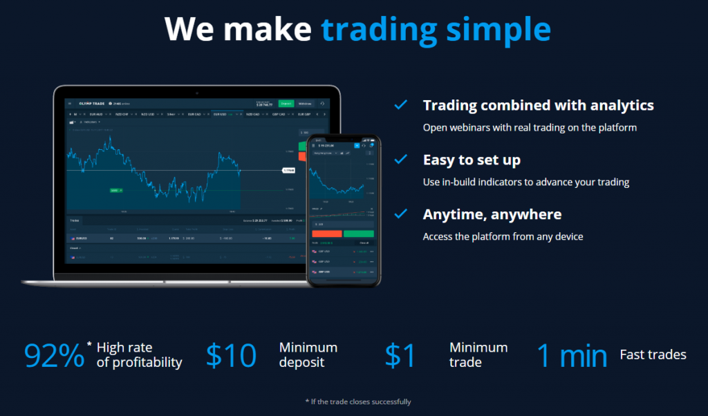 OlympTrade Simple trading