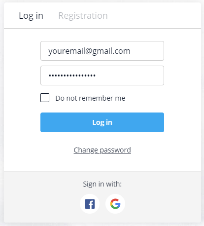 Olymptrade login