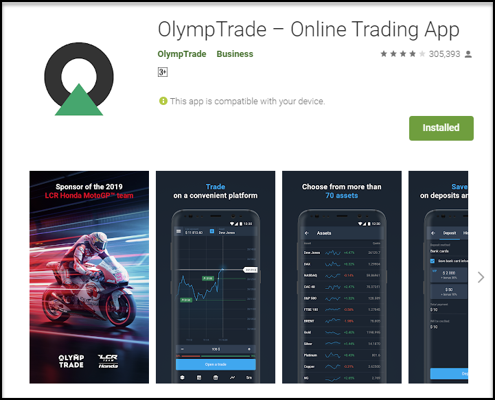 Mobile trading app for Android